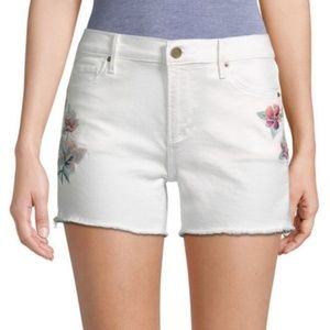 DRIFTWOOD JEANS CONNIE EMBROIDERED CUT OFF SHORTS